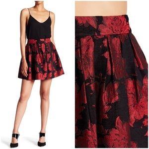 Alice + Olivia Stora Box Pleat Floral Mini Skirt